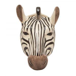 Quail Ceramics wall vase Zebra