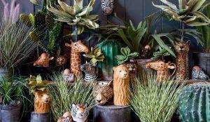 Quail Ceramics flower vase Giraffe
